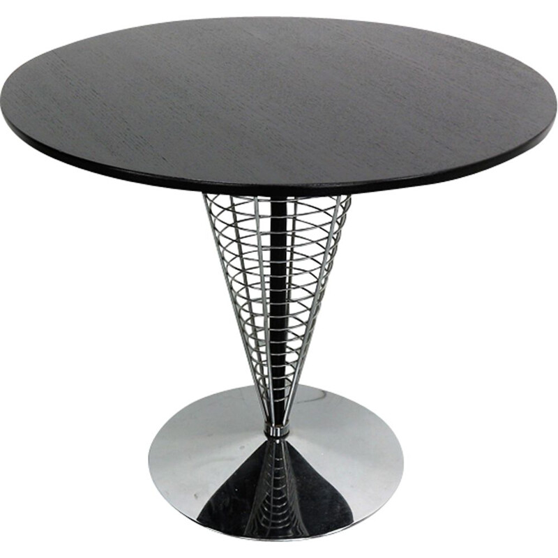"Vintage side table ""wire cone"" by Verner Panton for Fritz Hansen"