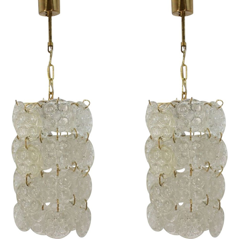 Pair of vintage chandeliers by Zelezny Brod