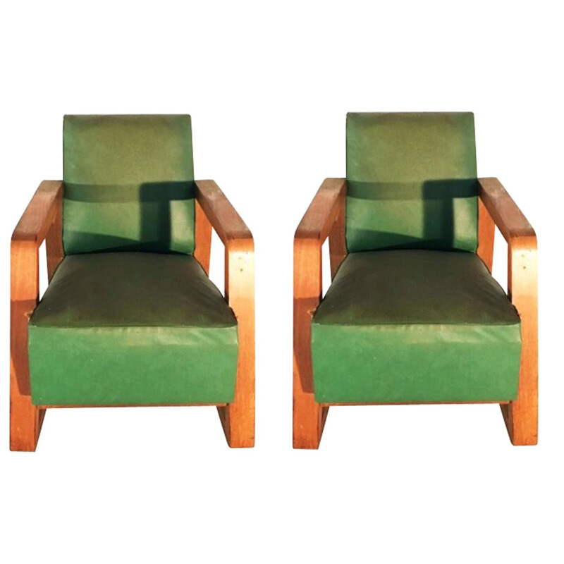 Suite of 2 armchairs by Colette Gueden