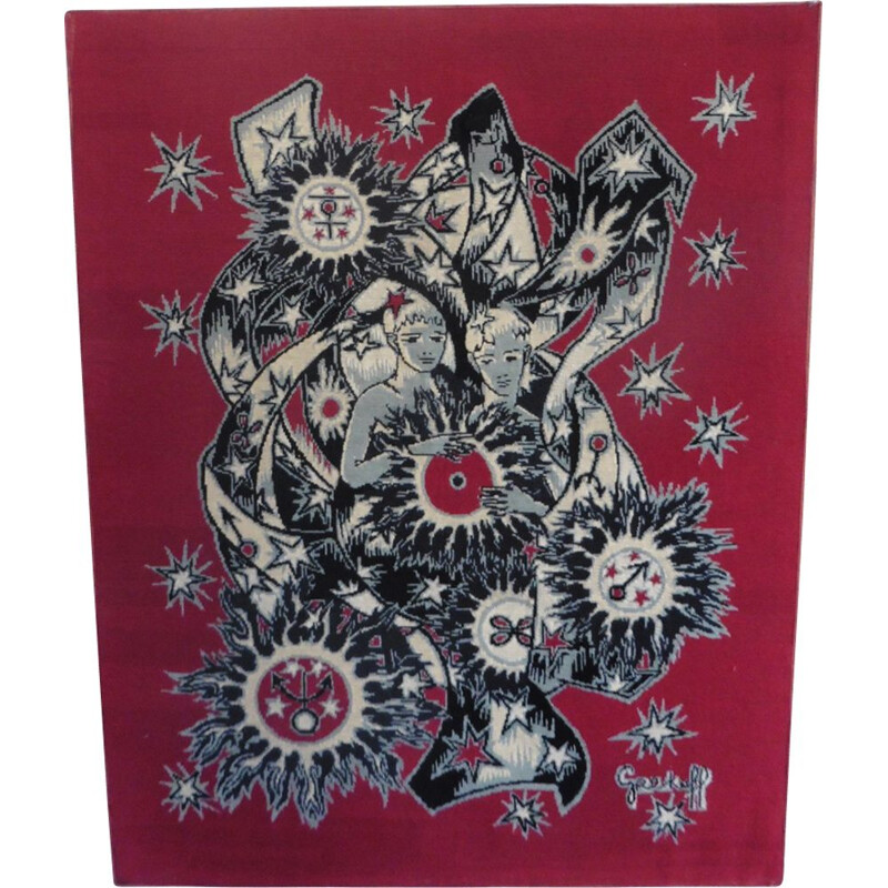 Vintage tapestry by Aubusson Grekoff
