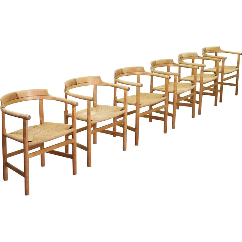 Six vintage Armchairs PP-62 by Hans J. Wegner for PP Møbler