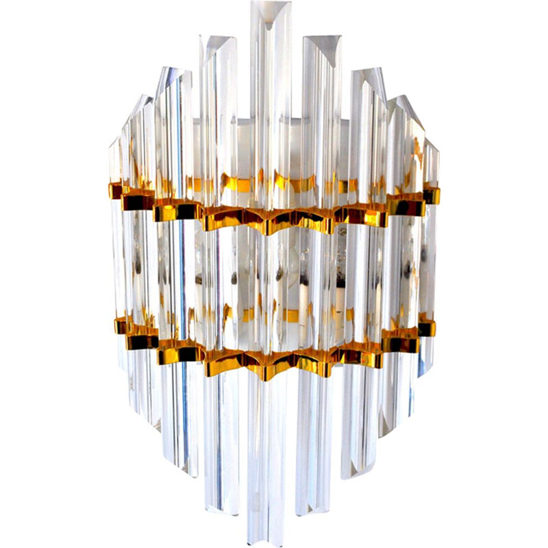 Vintage wall lamp gold Murano by Paolo Venini, Italy