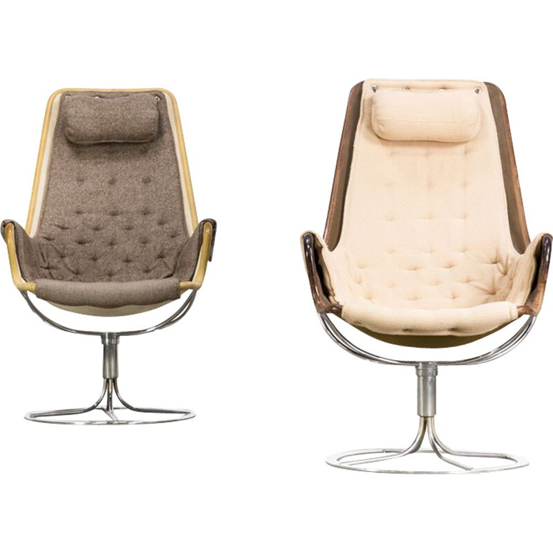 "Pair of vintage armchairs by Bruno Mathsson ""jetson"" for Dux"