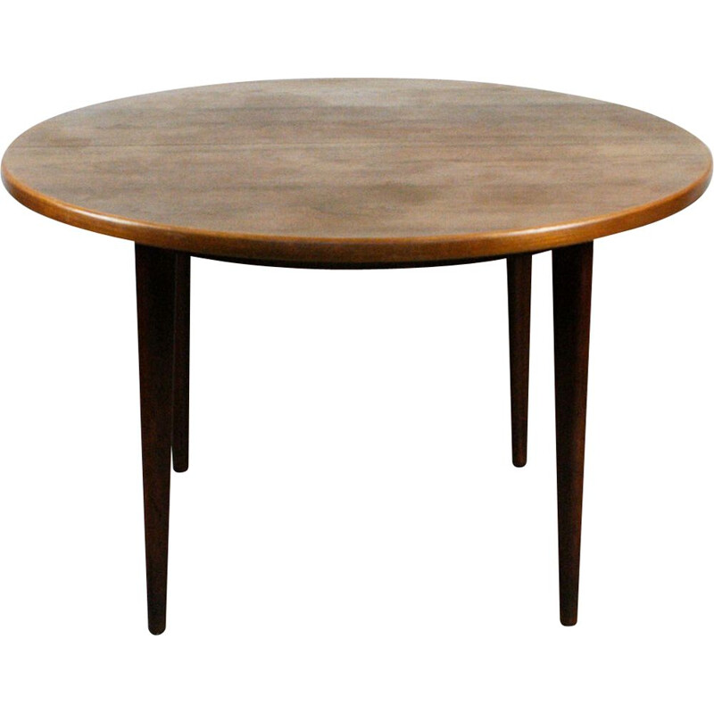 Vintage Scandinavian dining table in teak by Niels Koefoeds
