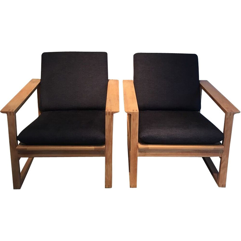 Pair of vintage armchairs model 191 by Borge Mogensen