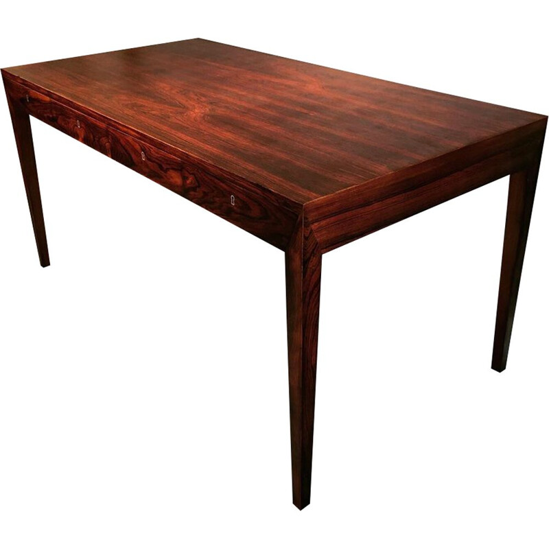 Vintage desk of Severin Hansen in rosewood edition Haslev circa 1960