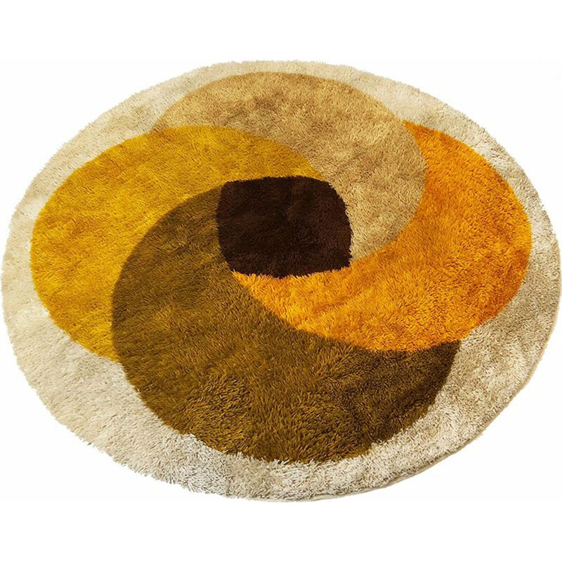 Vintage rug by Desso in multicolour wool 1970