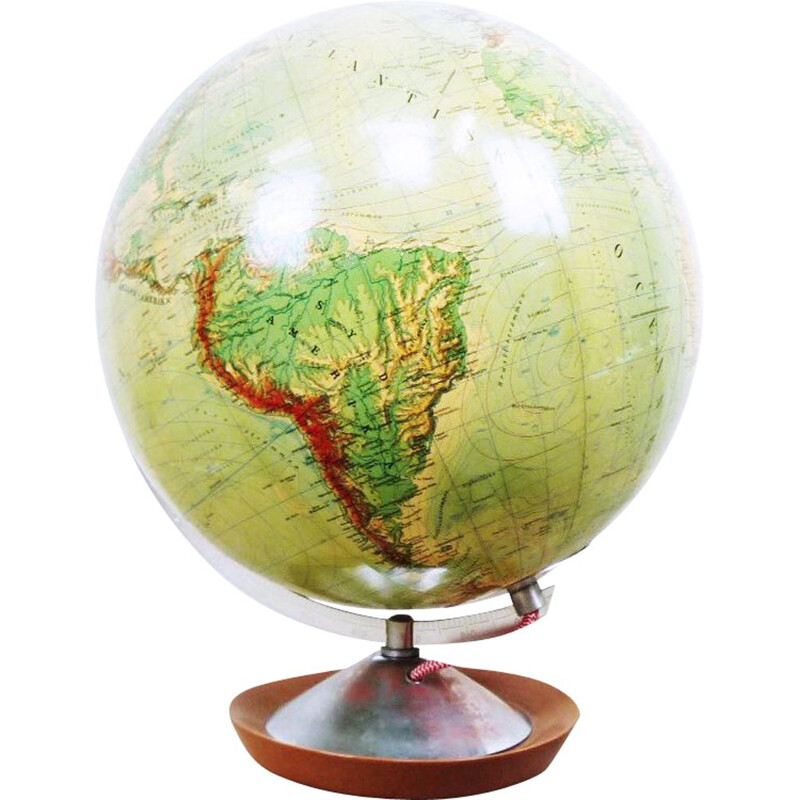 Vintage light terrestrial globe for JRO Globus 1960