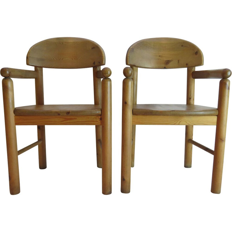 Pair of pine chairs by Rainer Daumiller for Hirtshals