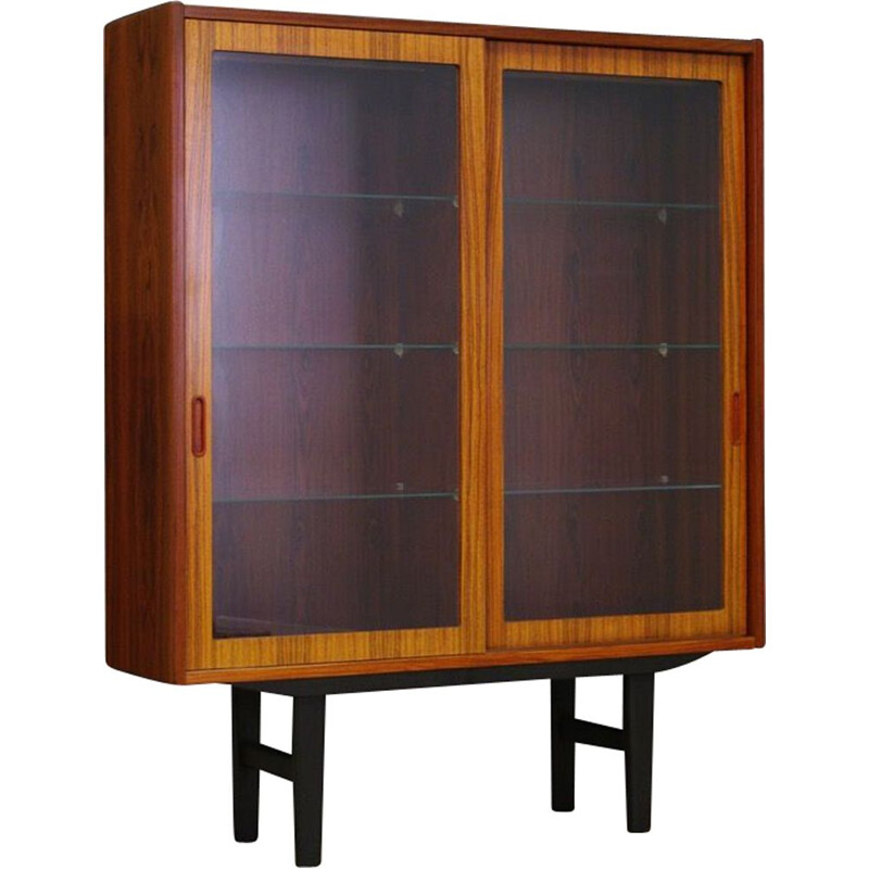 Vintage Hundevad bookcase in rosewood and glass 1970