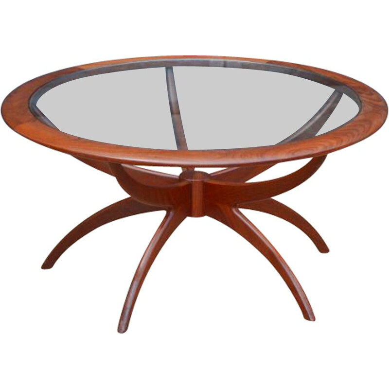 Vintage Spider table for G Plan in teak and glass 1960