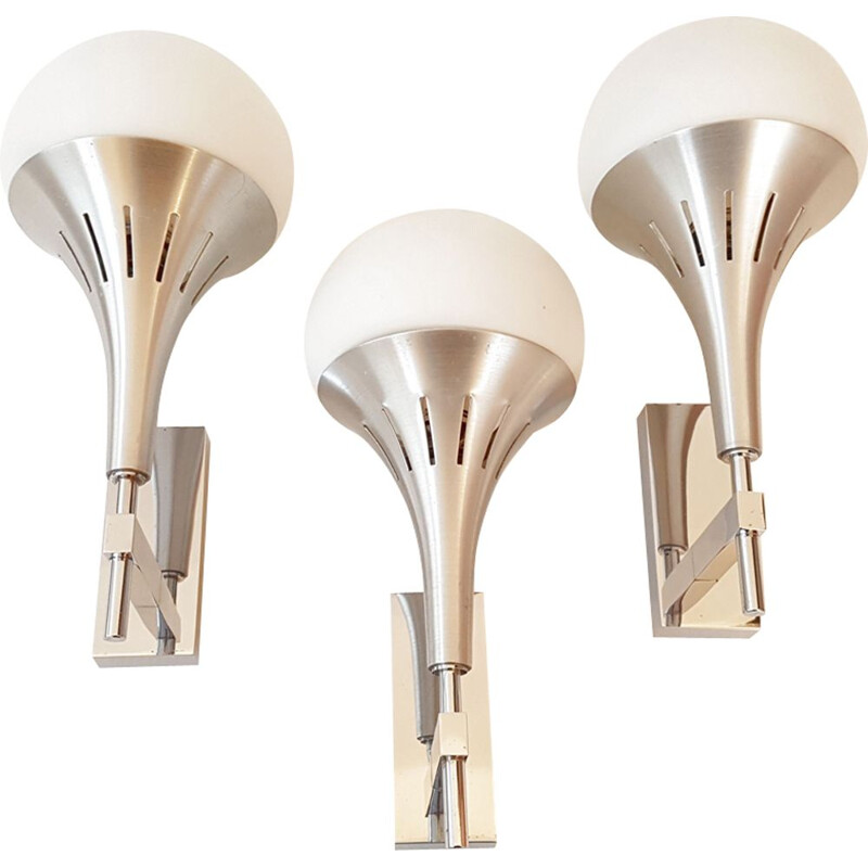 Set of 3 wall lamps by Gaetano Sciolari