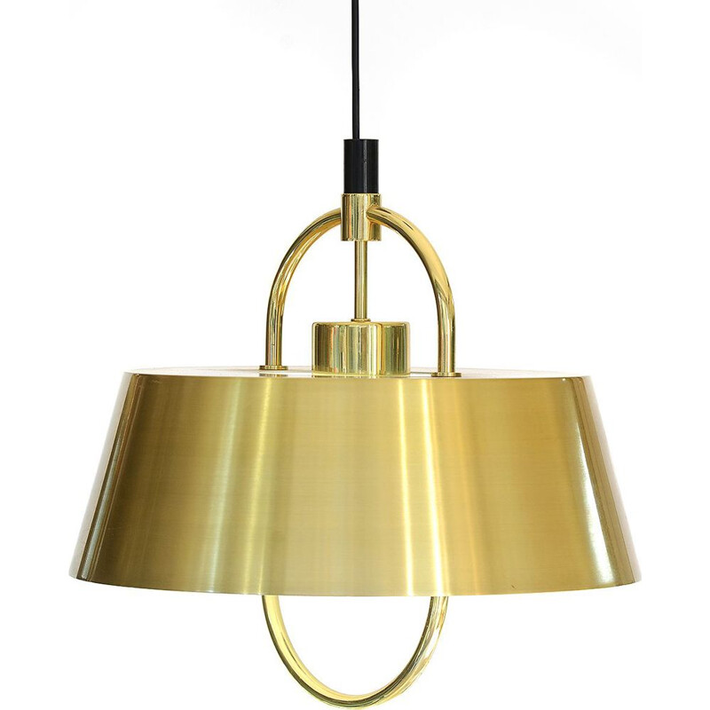 Brass pendant light by Jo Hammerborg