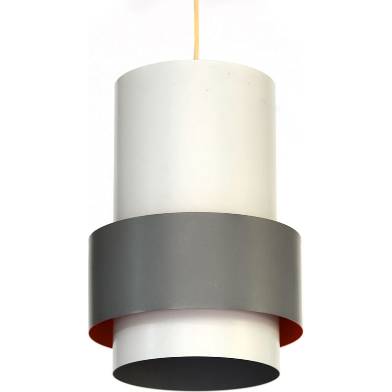 Grey pendant light in metal by Jo Hammerborg