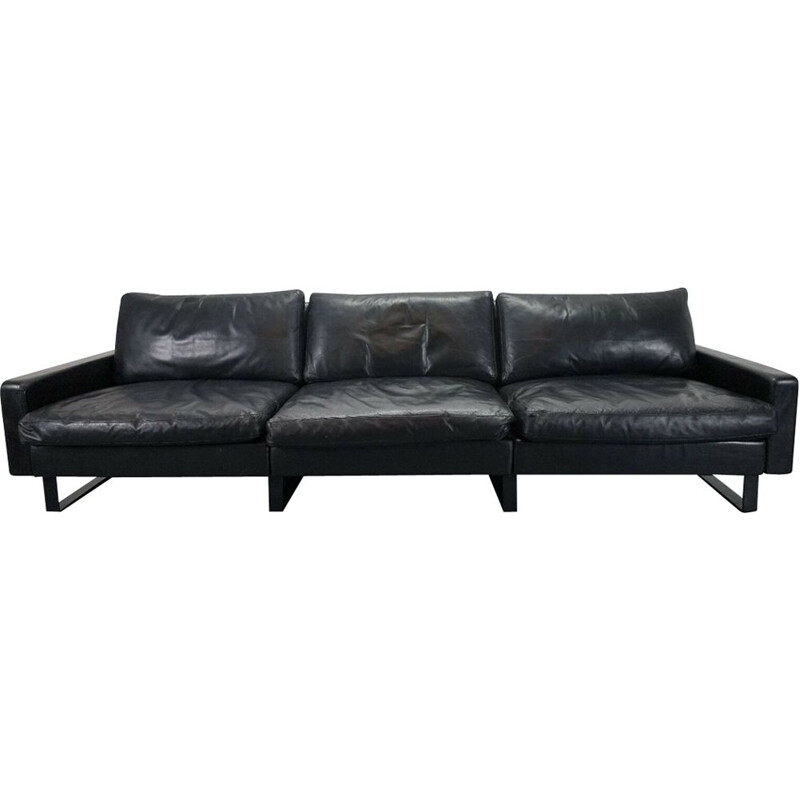 Conseta sofa in black leather