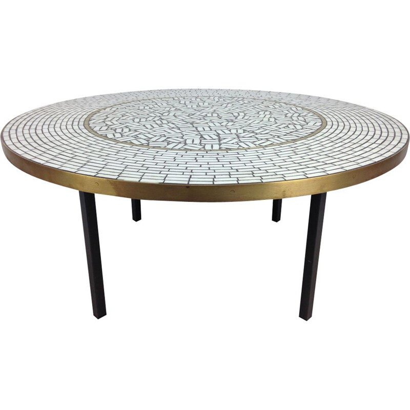 Vintage round coffee table by Berthold Muller