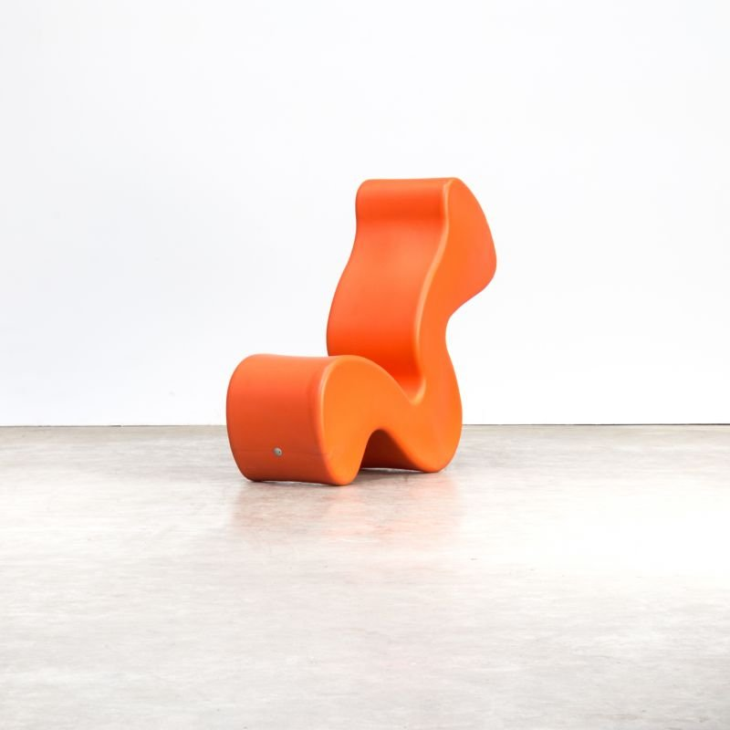 Phantom Chair Orange By Verner Panton For Innovation Randers 1990