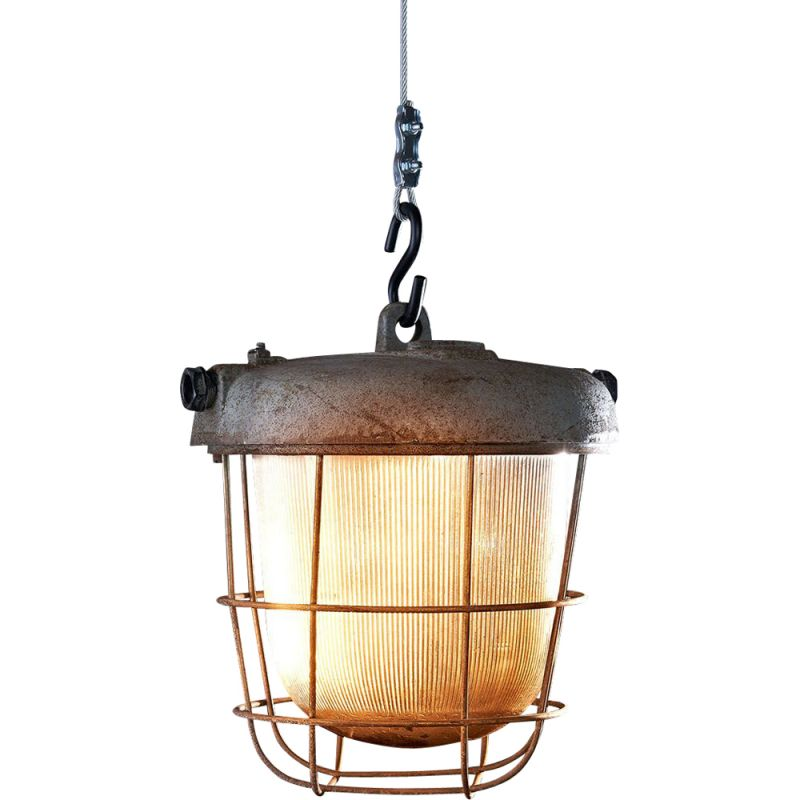 Vintage OS-200 P Industrial hanging lamp raw