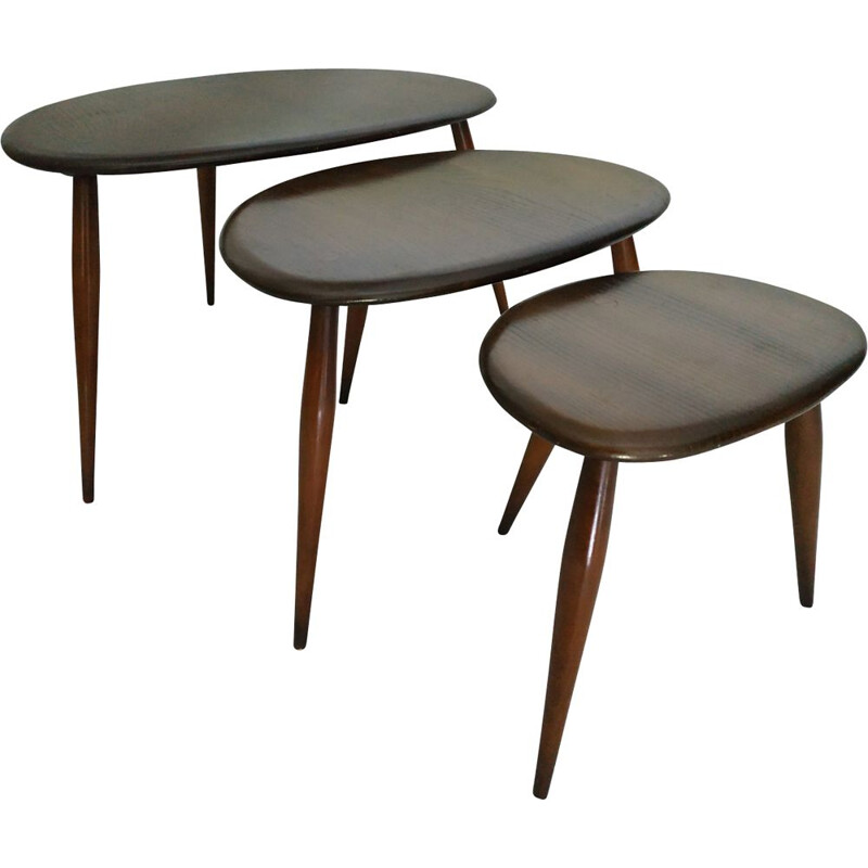 Vintage nesting tables by Lucian Ercolani edition Ercol vintage