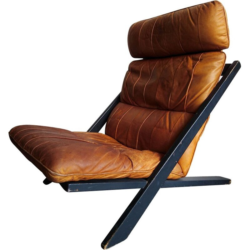 Vintage lounge chair by Ueli Berger for De Sede