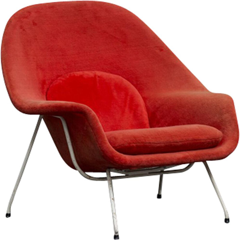 Vintage armchair Womb Chair by knoll
