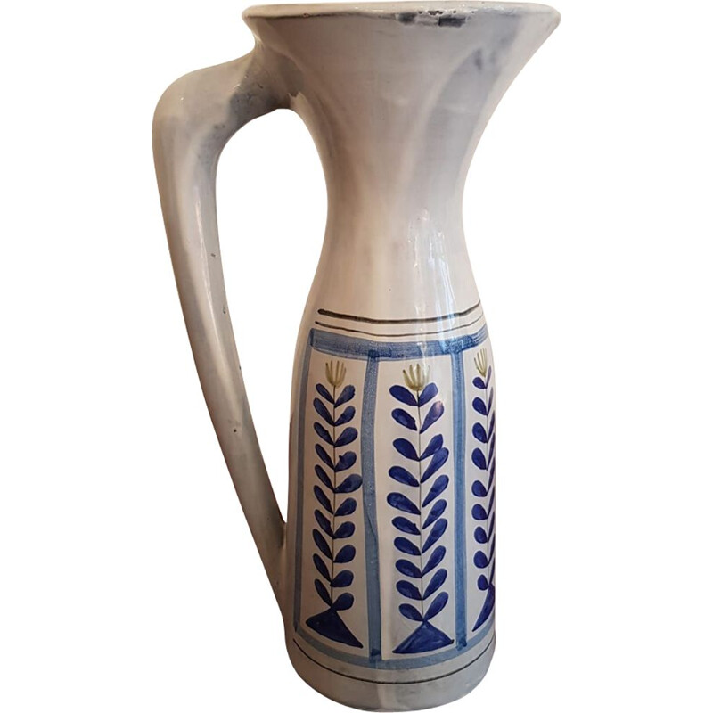 Vintage large pitcher in Vallauris ceramic by Roger Capron