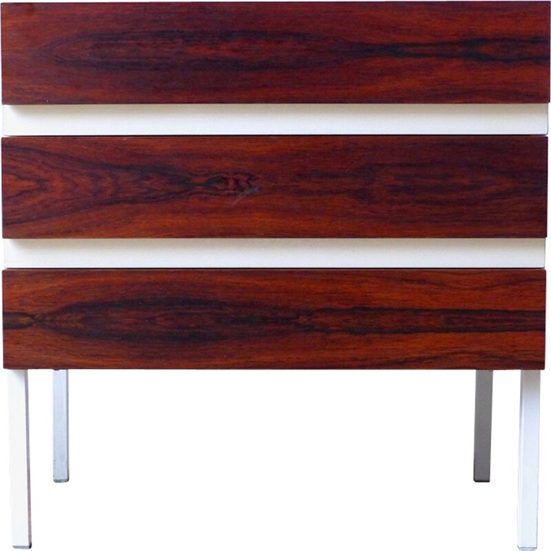 Vintage chest of drawers for Interlubke in rosewood and melamine