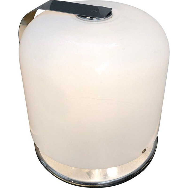 White table lamp in plastic by Luigi Massoni
