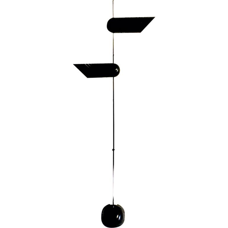 Vintage black floor lamp by Harvey Guzzini