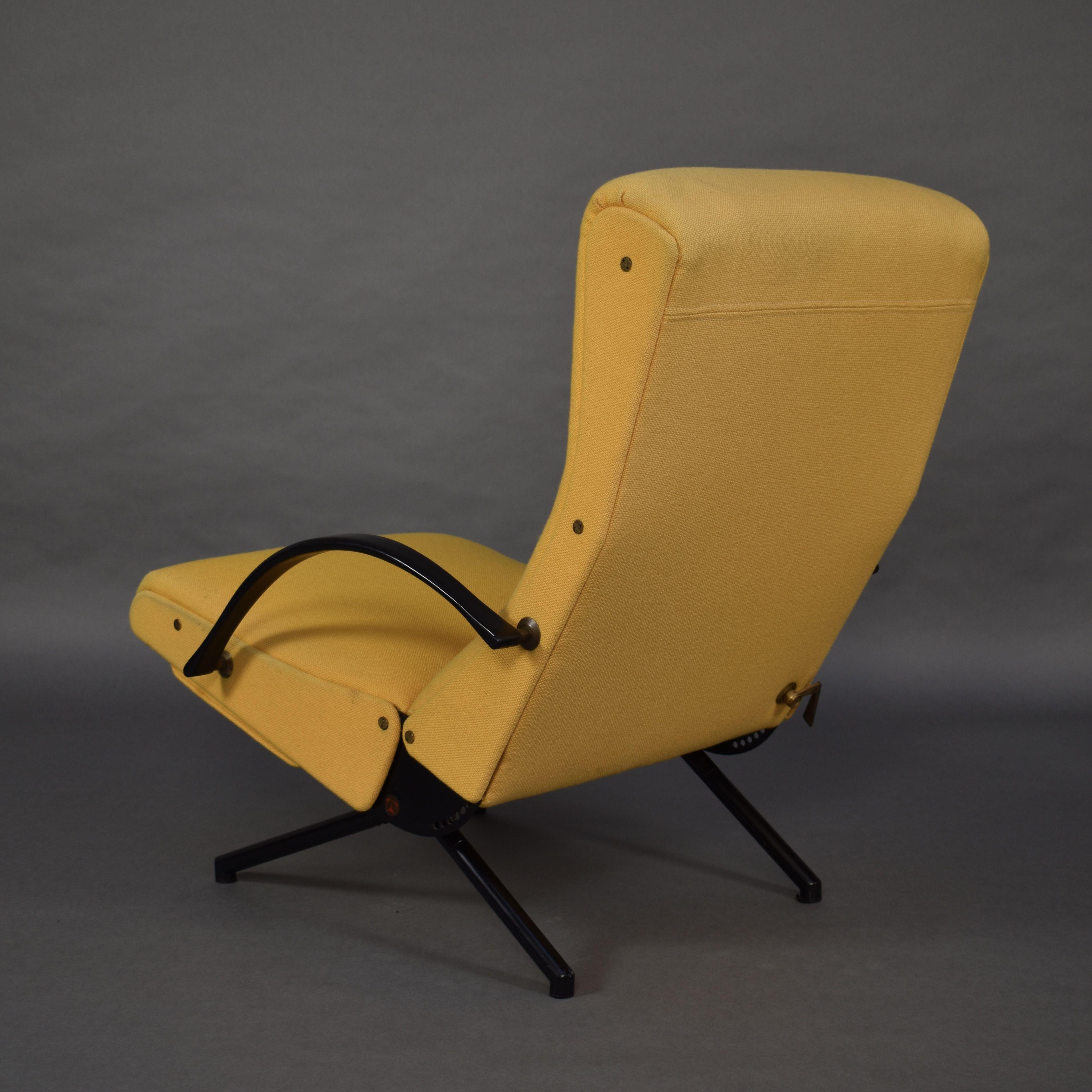Vintage Yellow Lounge Chair P40 By Tecno Design Market