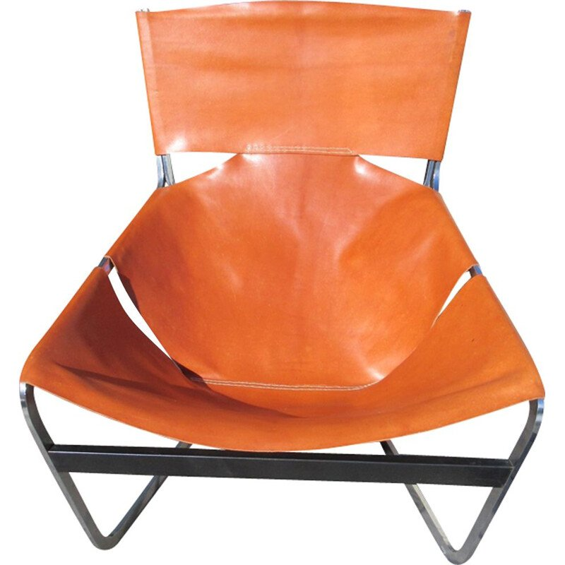 F444 leather armchair by Pierre Paulin 1960s