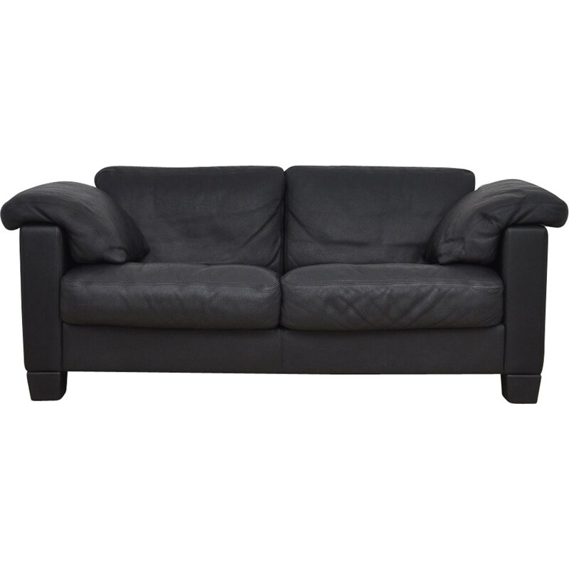 DS17 sofa in black leather from De Sede