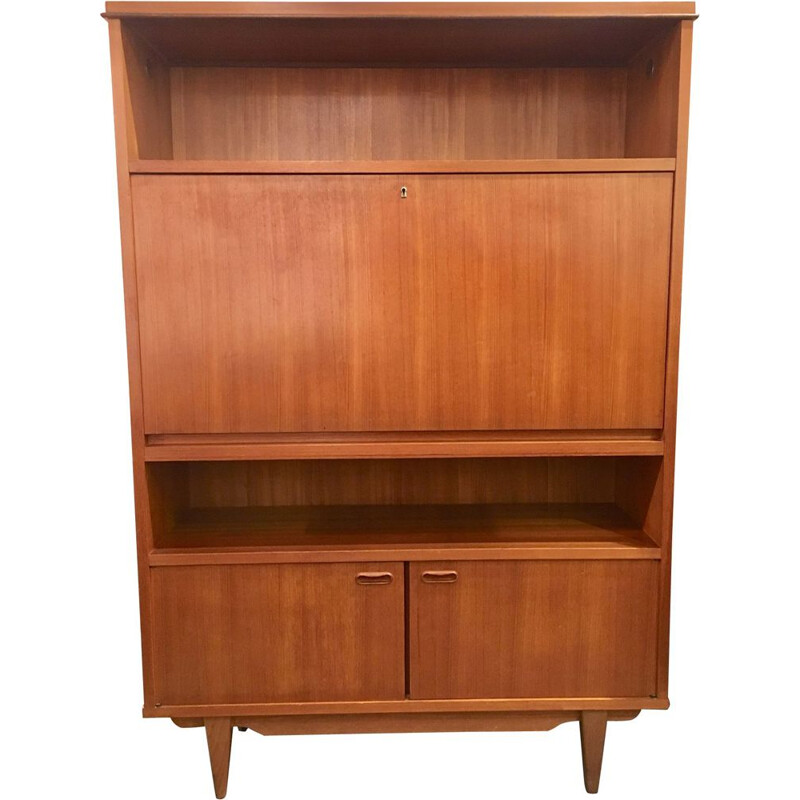 Vintage Danish Secretary in teak 1960