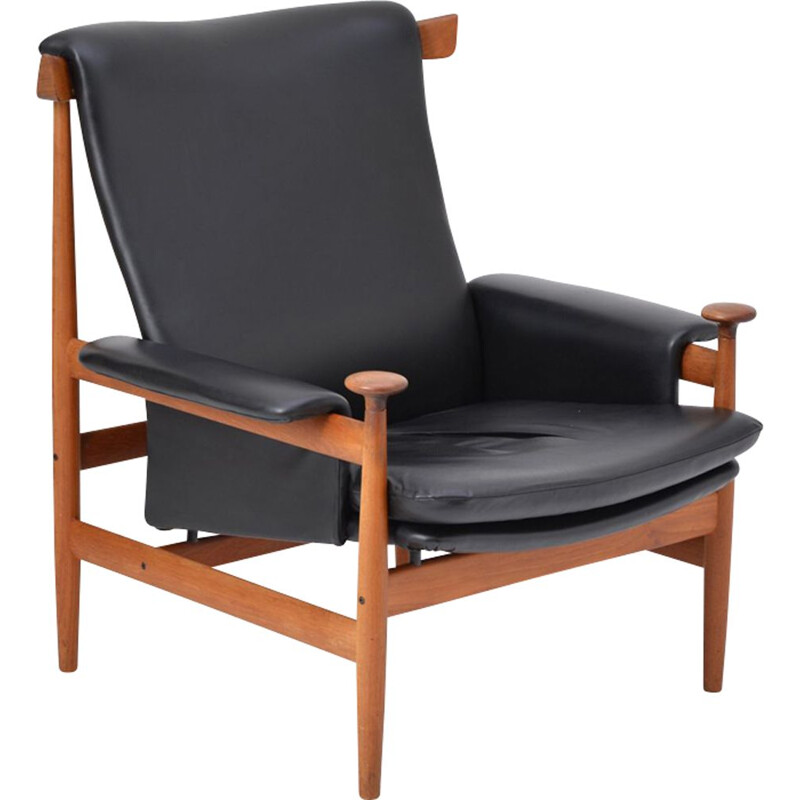 Black Reupholstered Bwana Model 152 Lounge Chair by Finn Juhl for France & Son