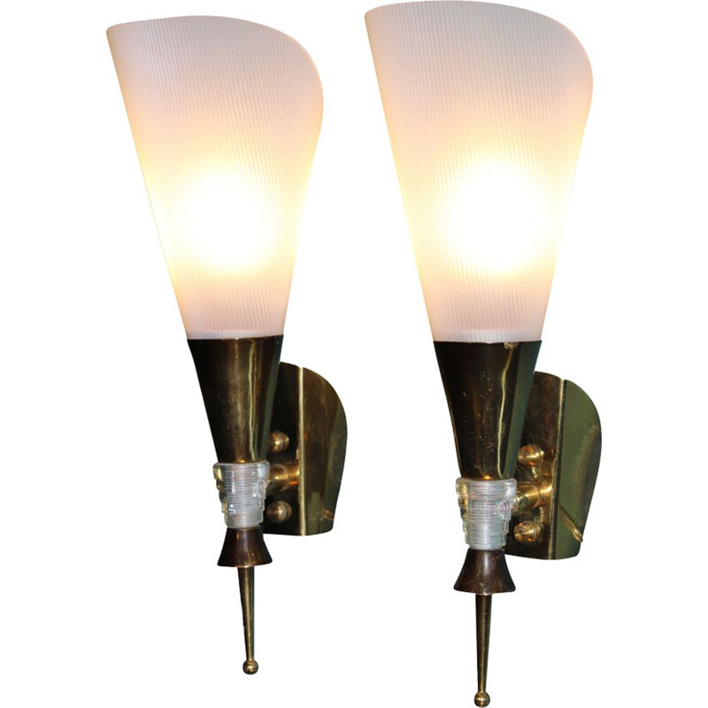 Pair of Midcentury Wall Sconces