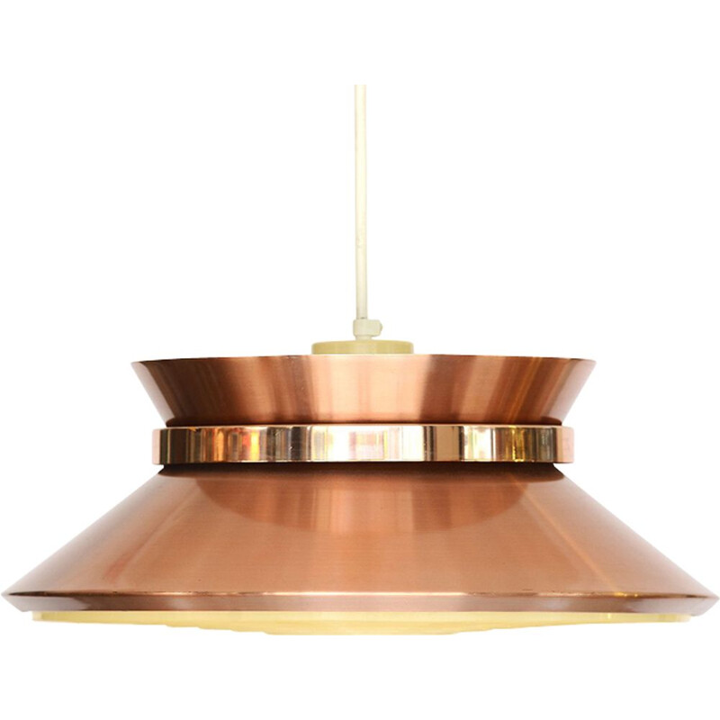 Vintage pendant lamp for Granhaga Metall in copper coloured aluminium