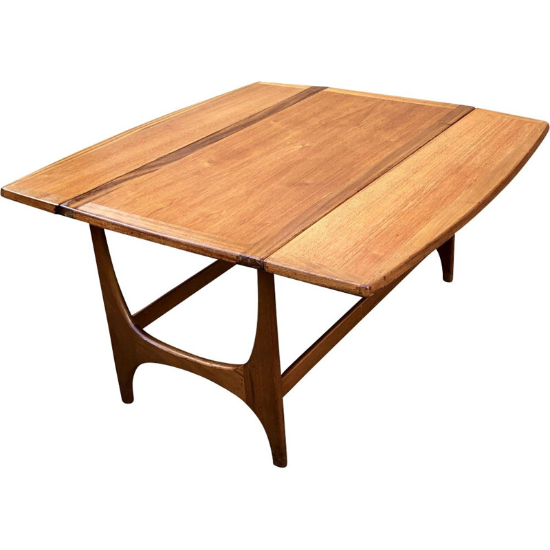Vintage scandinavian coffee table for Stonehill in teak 1960