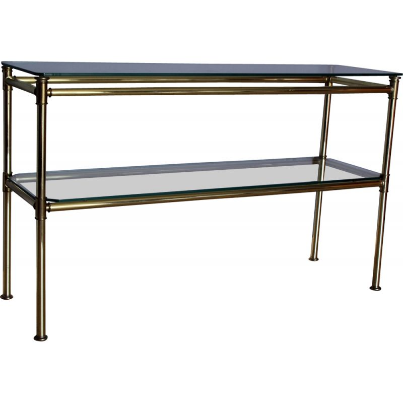 Vintage italian brass and glass console table 1970