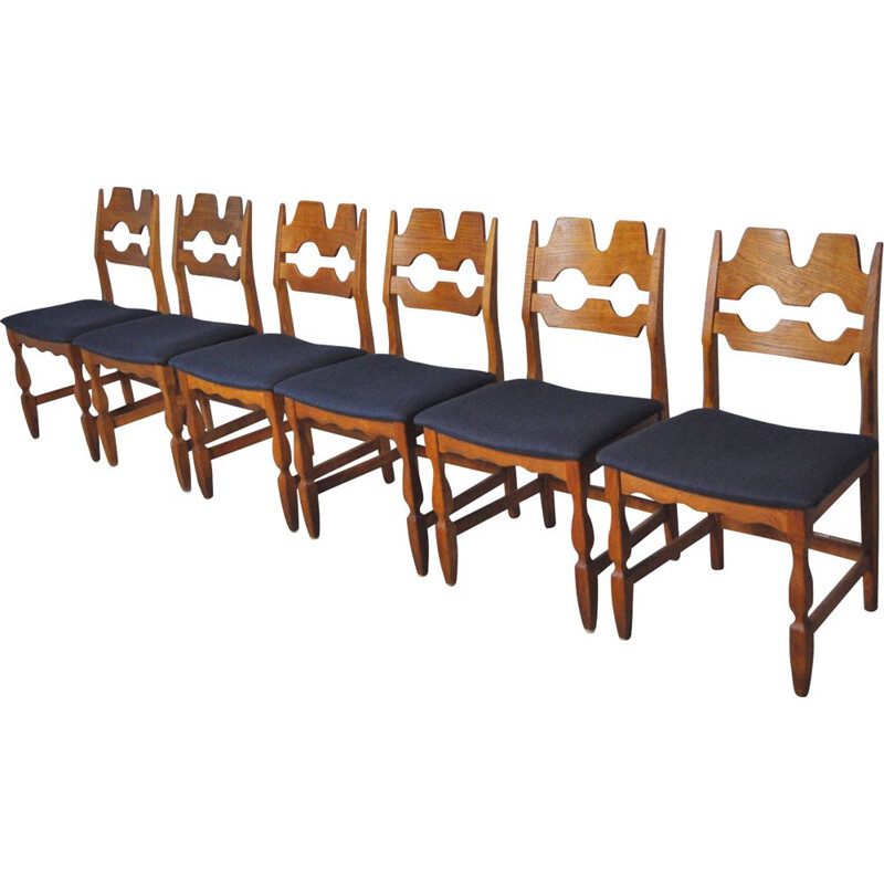 Set of 6 teak chairs by Henning Kjærnulf