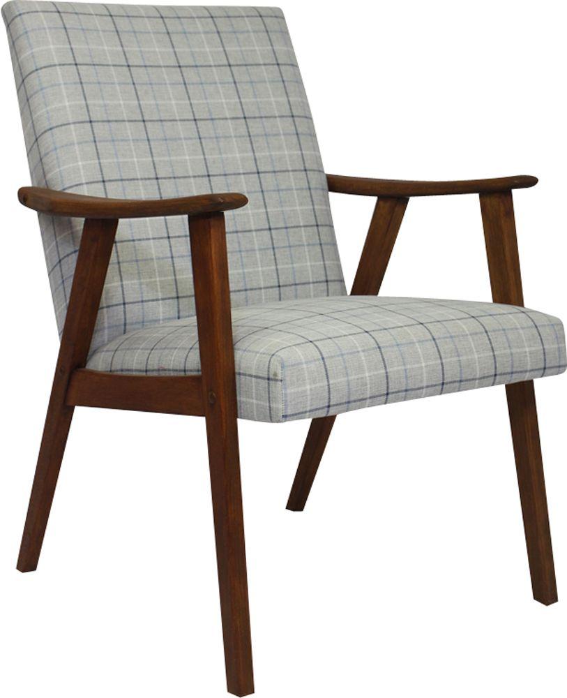 Vintage Scandinavian armchair in grey fabric - Design Market