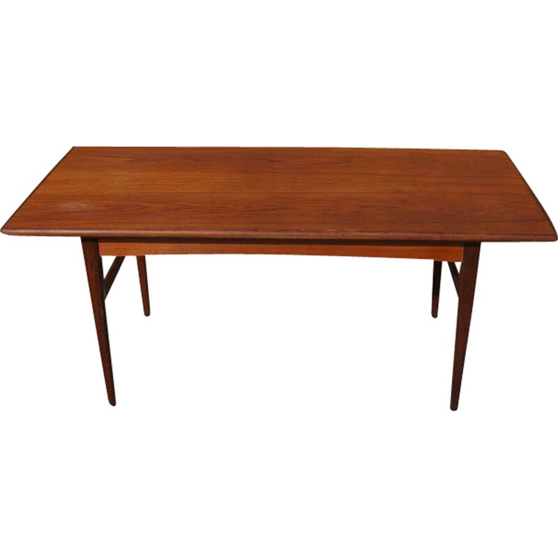 Vintage scandinavian teak modular table 1960
