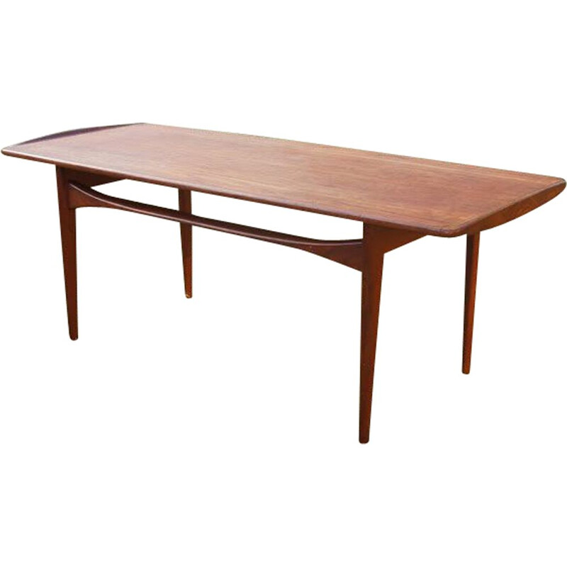 Vintage scandinavian coffee table for Illums Bolighus in teak 1960