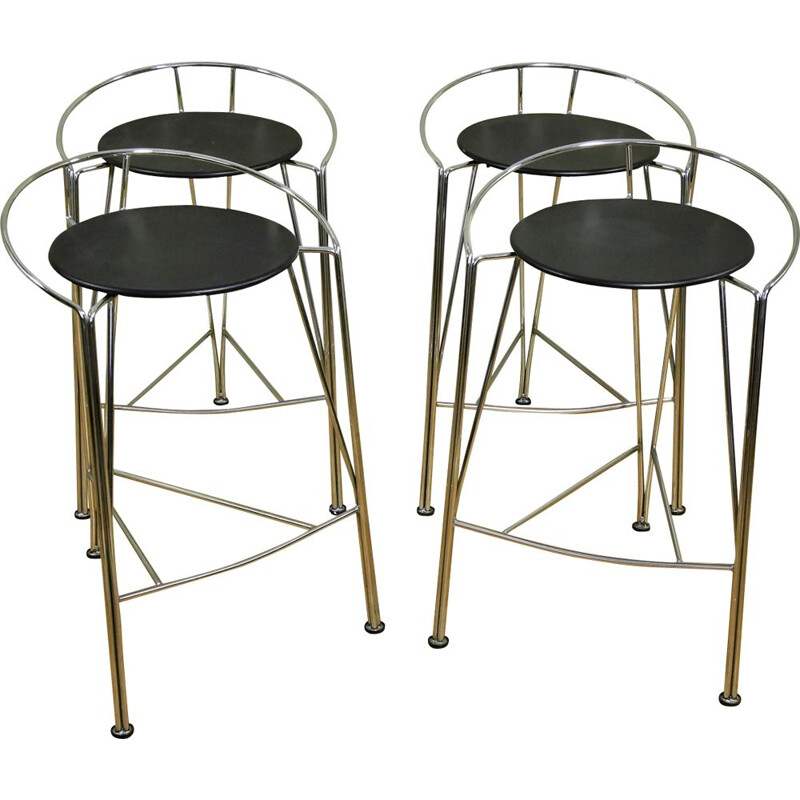 Set of 4 vintage stools Fermob by Pascal Mourgue