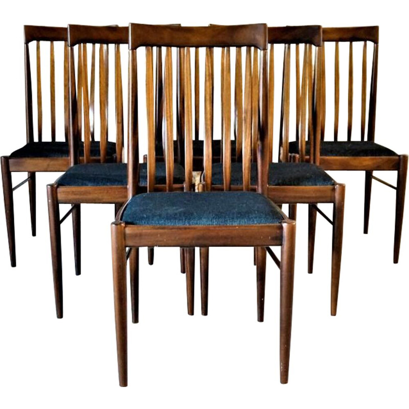 Set of 6 vintage Scandinavian chairs by H.W. Klein