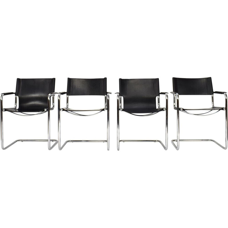 Set of 4 vintage chairs for Matteo Grassi