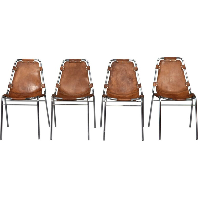 Set of 4 chairs Les Arcs for Charlotte Perriand