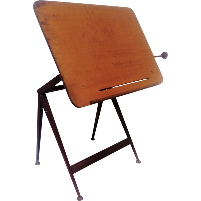 Vintage drafting table by Friso Kramer