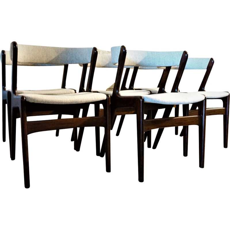 Set of 6 Fire chairs by Kai Kristiansen