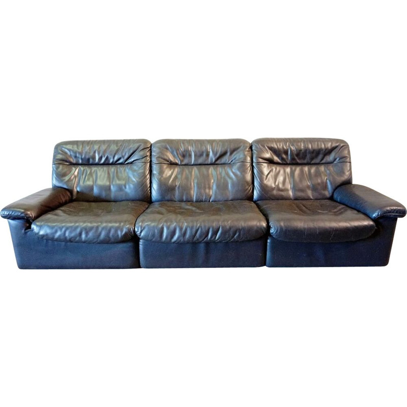 Vintage DS66 sofa for De Sede in chocolate leather 1970