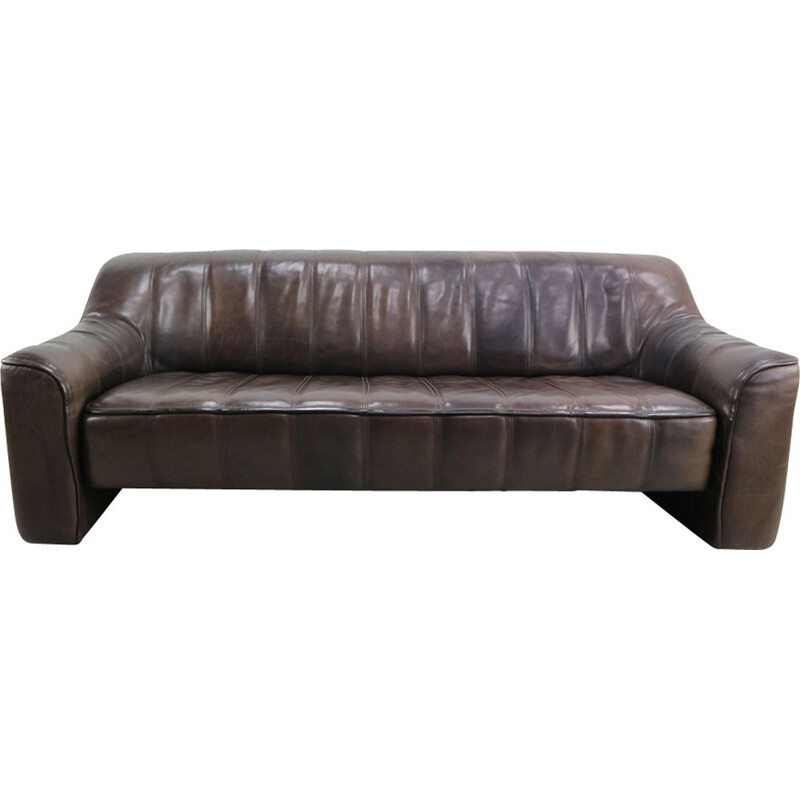 Vintage brown leather DS-44 sofa by De Sede 1970